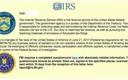 [ALERT] The IRS Issued An Urgent Warning Against An IRS / FBI-Themed Ransomware Phishing Attack
