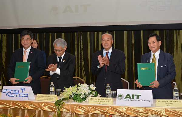 NSTDA and AIT sign landmark agreement, to create technology