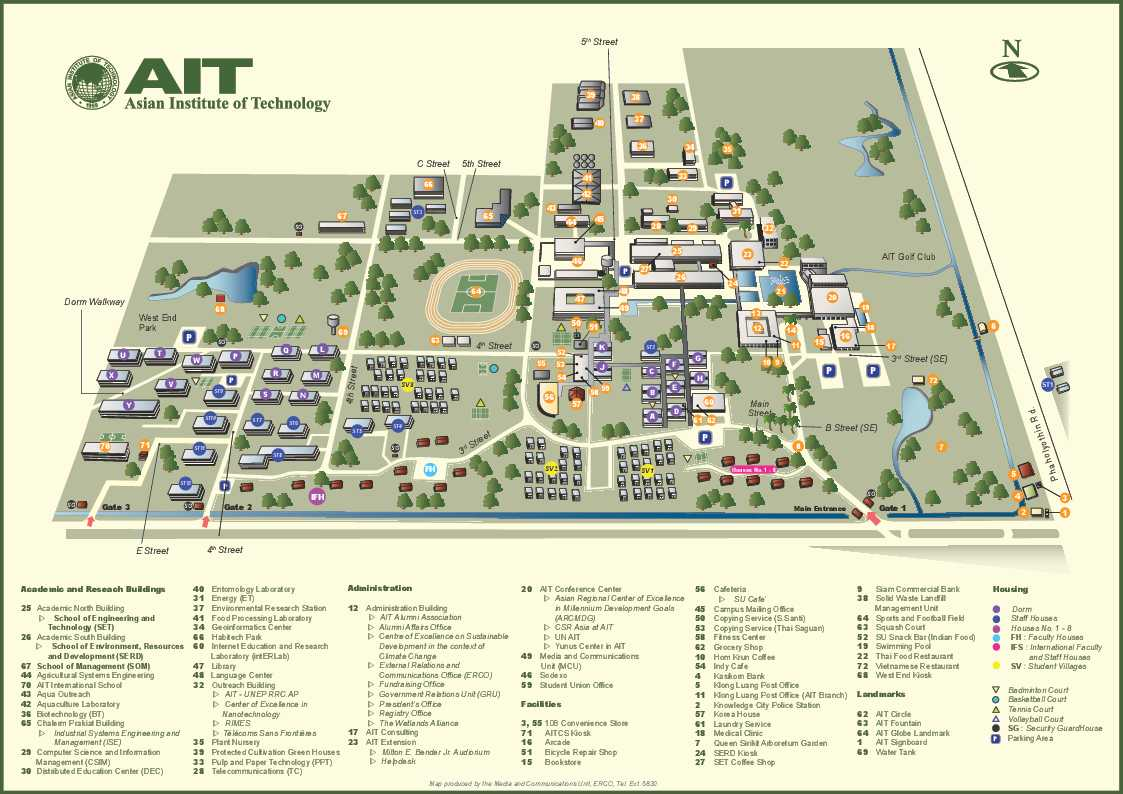 Campus Maps | Asian Institute of Technology