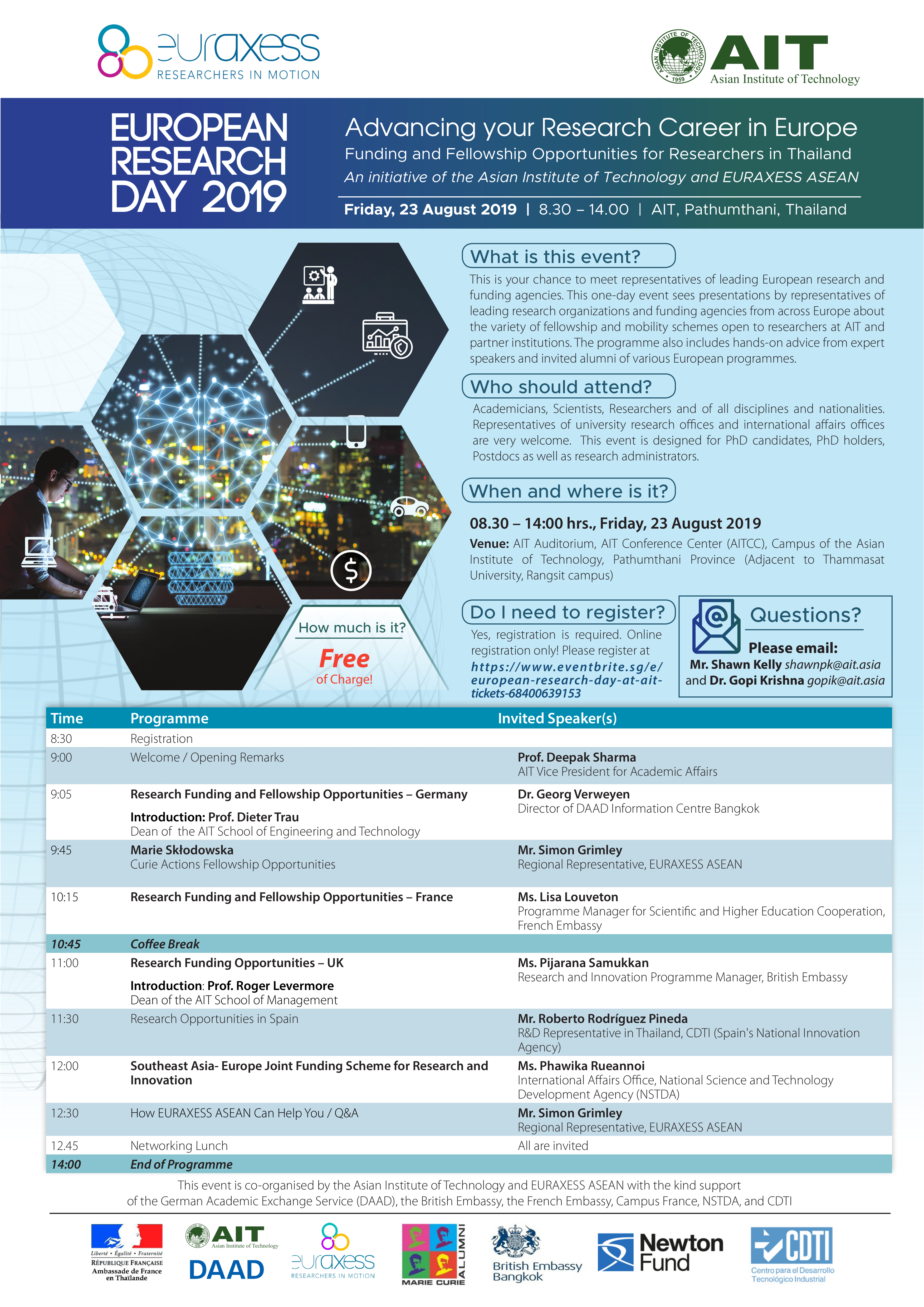 European Research Day 2019 - Asian Institute of Technology