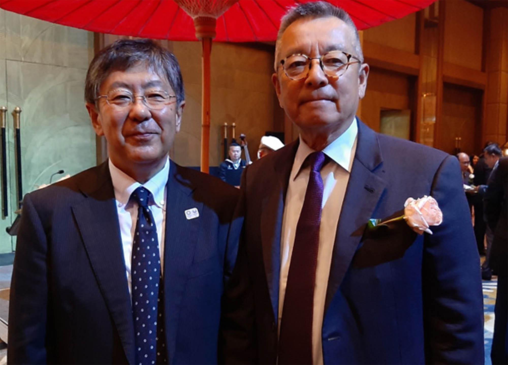President Eden Woon with Ambassador of Japan H.E. Mr. Nashida Kazuya