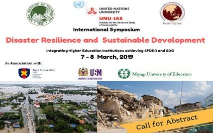 International Symposium on Disaster Resilience and Sustainable Development