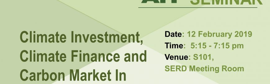 Seminar on Climate investment, Climate Finance and Carbon Market in Today's World