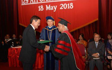 Prof ATM Nurul Amin felicitated with Emeritus Professor honor at Graduation