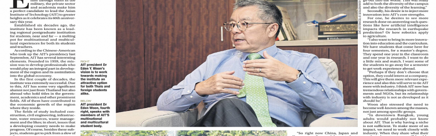 A Higher Vision: President Woon tells the Bangkok Post
