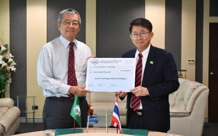 Dr. Yanyong Phataralaoha (IE&M '86) donates 500,000 Baht for Student Exchange Scholarship Program and 500,000 Baht for Updating of Student Village 1