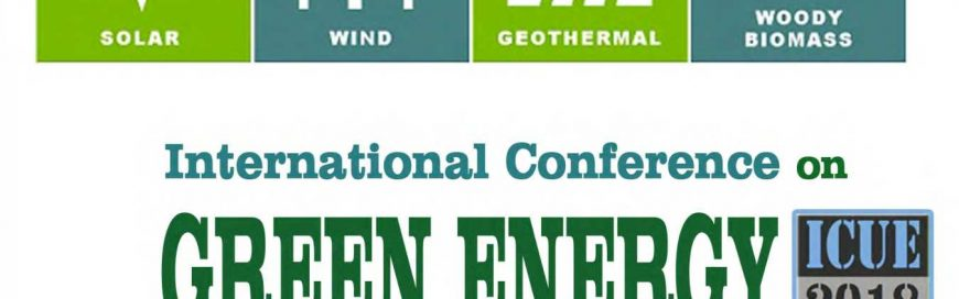 ICUE 2018 on Green Energy for Sustainable Development
