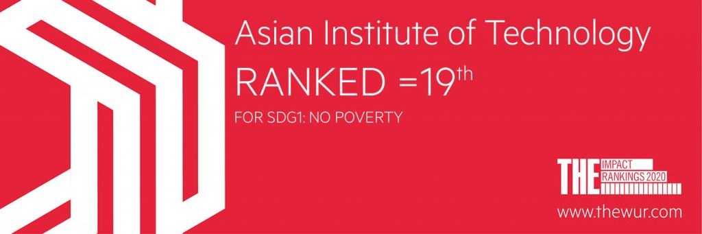 AIT Rank 19 in SDG1 Poverty