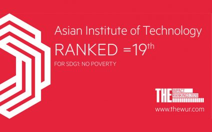 AIT Ranks 19th in World in <i>SDG1—No Poverty</i> in Times Higher Education Impact Rankings 2020