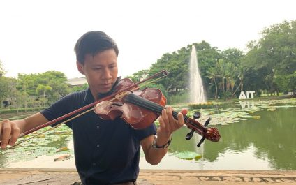 Rhythm Through The Wind – Beautiful music by a Myanmar student violinist soothes the AIT campus