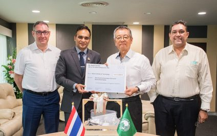 AIT Received Humanitarian In-kind Donations from SOM Alumnus