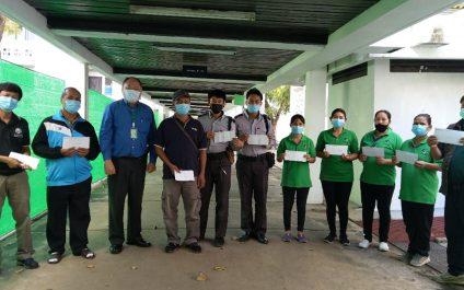 AIT frontline Organizational Quarantine (OQ) staff receive Year-End Bonus