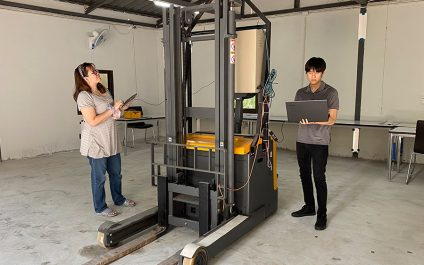 AIT Mechatronics Specialists create 'Auto Guided Vehicle Control System' to upgrade Manual Forklifts into Driverless Machines