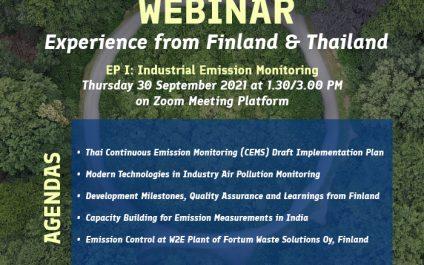 Invitation to the Circular Economy Webinar Episode 1: Industrial Emission Monitoring
