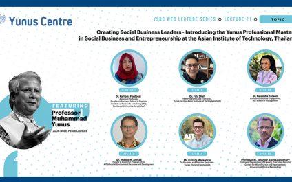 Nobel Laureate Muhammad Yunus Unveils AIT Master's Program in Social Business & Entrepreneurship
