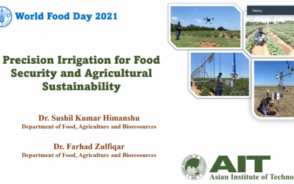 Precision Irrigation: A Resolution to Smart Farming and Agricultural Sustainability Expands in Commemoration of 'World Food Day 2021'