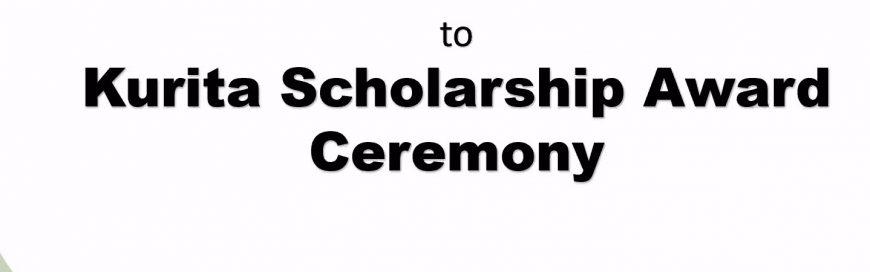 Students honored at the Virtual Kurita Scholarship Award Ceremony