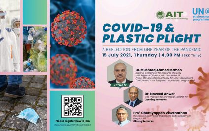 Plastic Pandemic caused by COVID-19 Presents Opportunity for Green Recovery