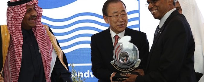 Prominent Alumnus Honored with International Water Award at UN Headquarters