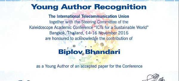 Young author award for AIT researcher