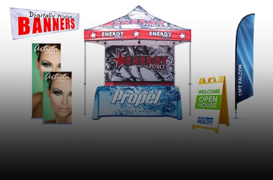 custom printed signs banners displays Costa Mesa orange county oc