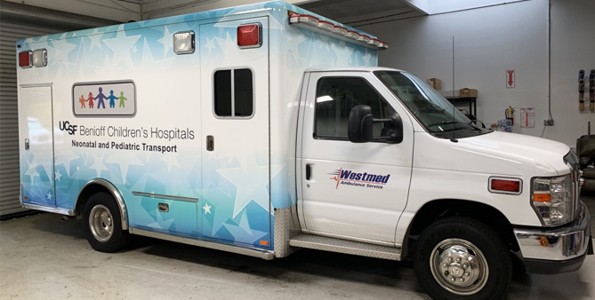 partial wrap, car wrap, vehicle wraps, vehicle graphics, ambulance wrap, ems wrap