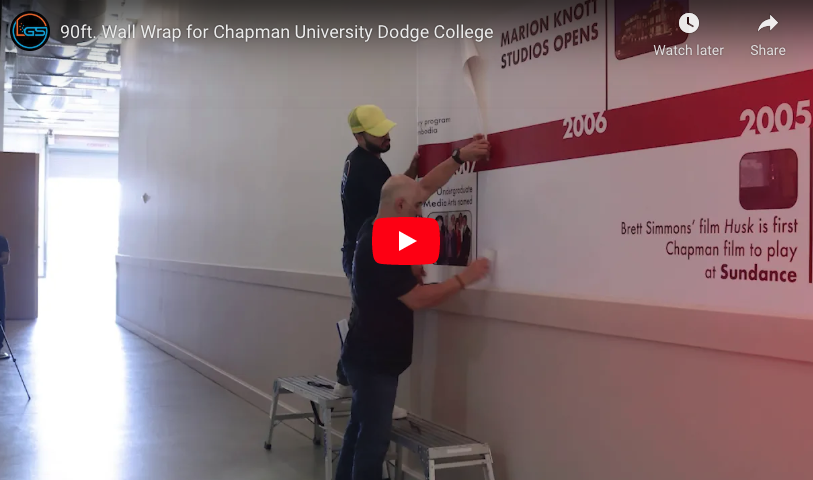 Chapman-University-Dodge-College-Timeline-Wall-Wrap