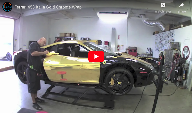 Gold-Chrome-Wrap-–-Ferrari-458-Italia