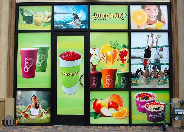 window wraps, window graphics, window decals, store front graphics