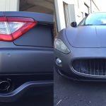 matte wrap, charcoal wrap, color change, exotic wrap, Maserati wrap