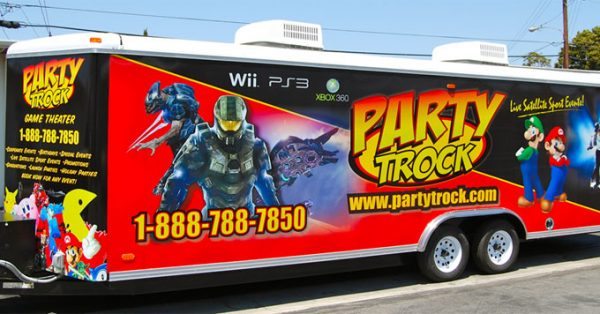 trailer wrap, trailer graphics, trailer decals, gaming trailer wrap, game trailer graphics