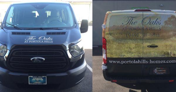 partial wrap, car wrap, vehicle wraps, vehicle graphics, van wrap
