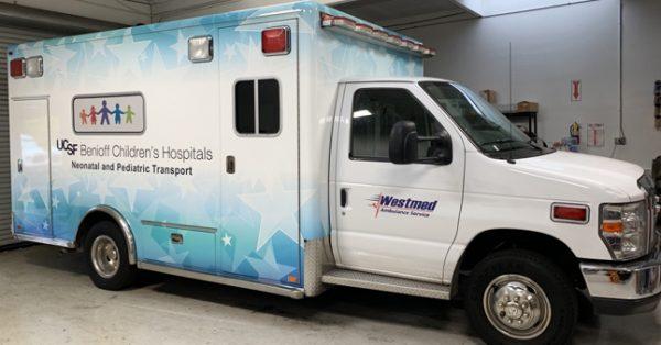 partial wrap, car wrap, vehicle wraps, vehicle graphics, ambulance wrap, ems wrap