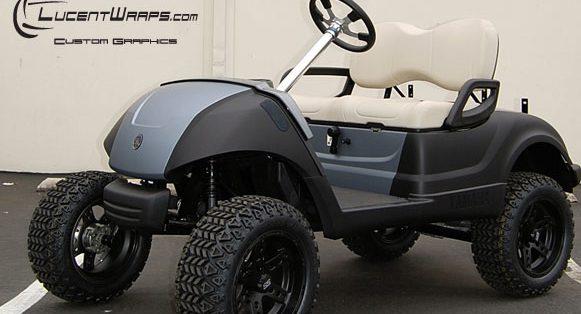 golf cart wrap, golf cart graphics, golf cart decals