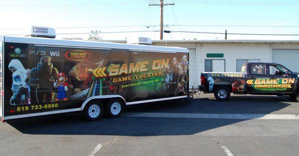 trailer wrap, trailer graphics, trailer decals, gaming trailer wrap