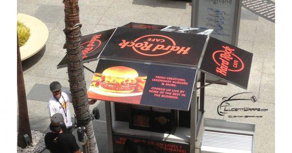 kiosk wrap, kiosk graphics