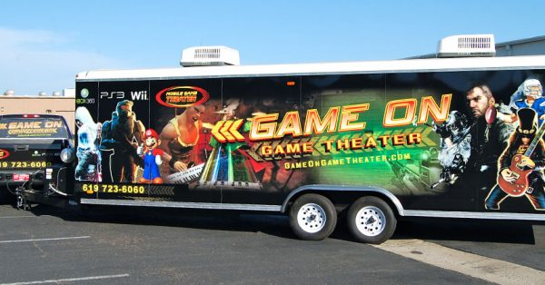 trailer wrap, trailer graphics, trailer decals, Gaming Trailer Wrap