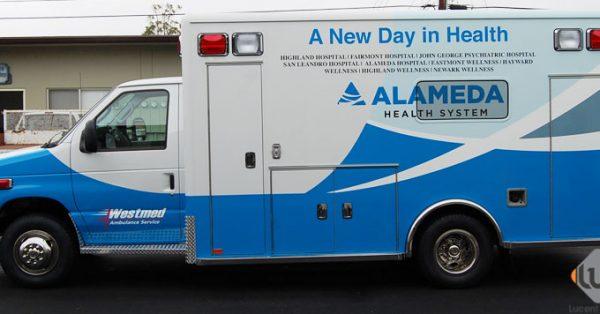 car wrap, vehicle graphics, digital print wrap, vehicle wrap, fleet graphics, ambulance wrap