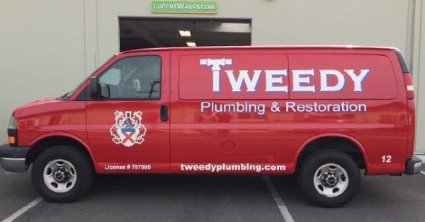 van wrap, car wrap, vehicle wrap, vehicle graphics, plumbing van wrap, fleet graphic