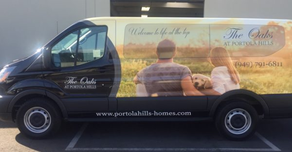 partial wrap, car wrap, vehicle wraps, vehicle graphics, van wraps, Ford Transit wrap