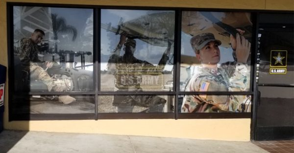 window wrap, window graphics, window decals, storefront, military, U.S. Army