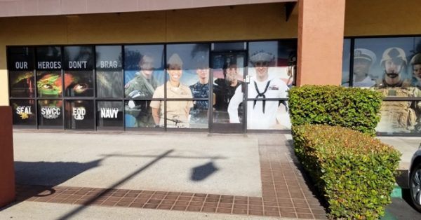 window wrap, window graphics, window decals, storefront, military, U.S. Navy