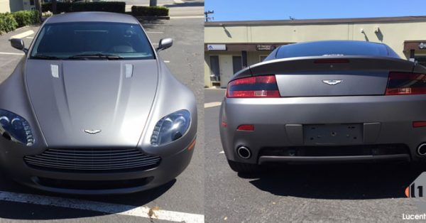car wraps, vehicle wraps, color change wrap, custom wraps, matte gray, aston martin
