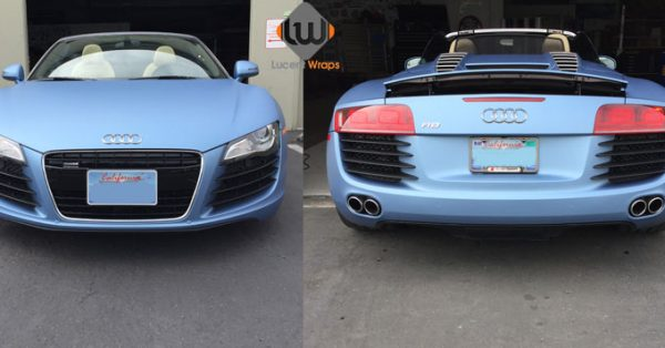 car wraps, vehicle wraps, color change wrap, custom wraps, powder blue