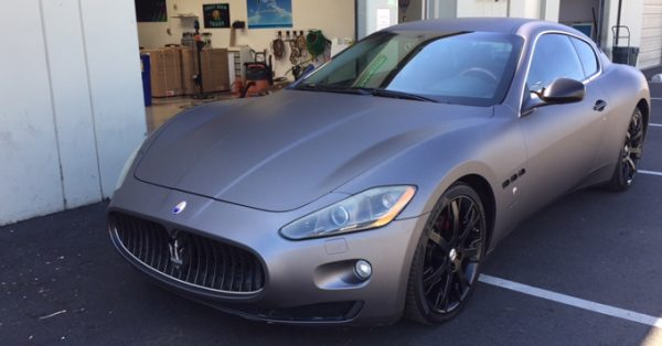 charcoal wrap, exotic wraps, Maserati wrap, color change wrap