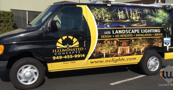 van wrap, car wraps, vehicle graphics, landscape van wraps