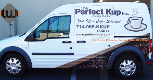 partial wrap, van wrap, vehicle graphics, Ford Transit Wrap