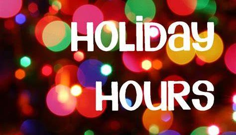 Pure Effect Holiday Hours