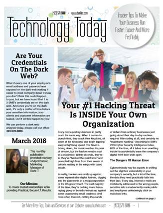 March 2018 newsletter