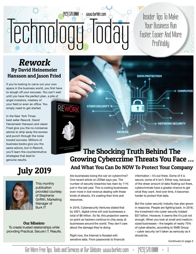 July 2019 newsletter